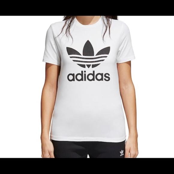 adidas originals trefoil t shirt women's